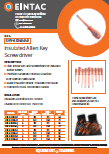EHV-AKH Insulated Allen Key Screwdrivers