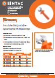 EHV-ASH Insulated Adjustable Spanner With Handstop