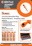 EHV-RRI Insulated Reversible Ring Ratchet Wrench With Insulated Head