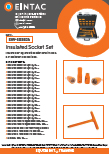 EHV-SOS824 Insulated Socket Set